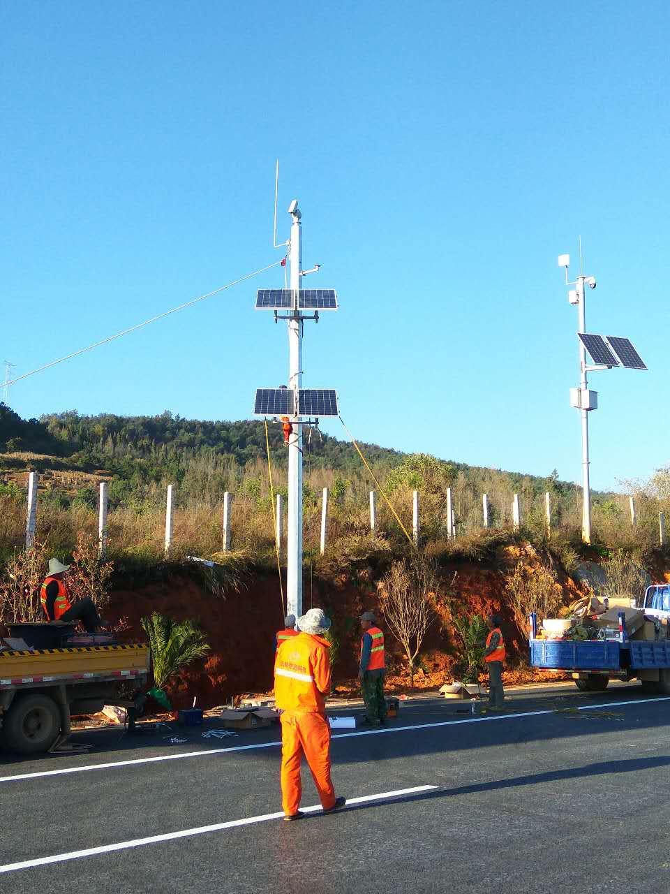 【监控类】云岭小龙高速太阳能监控供电项目