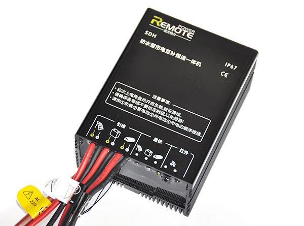 可使用太阳能和市电同时给蓄电池充电,具有电源管理功能. 2.